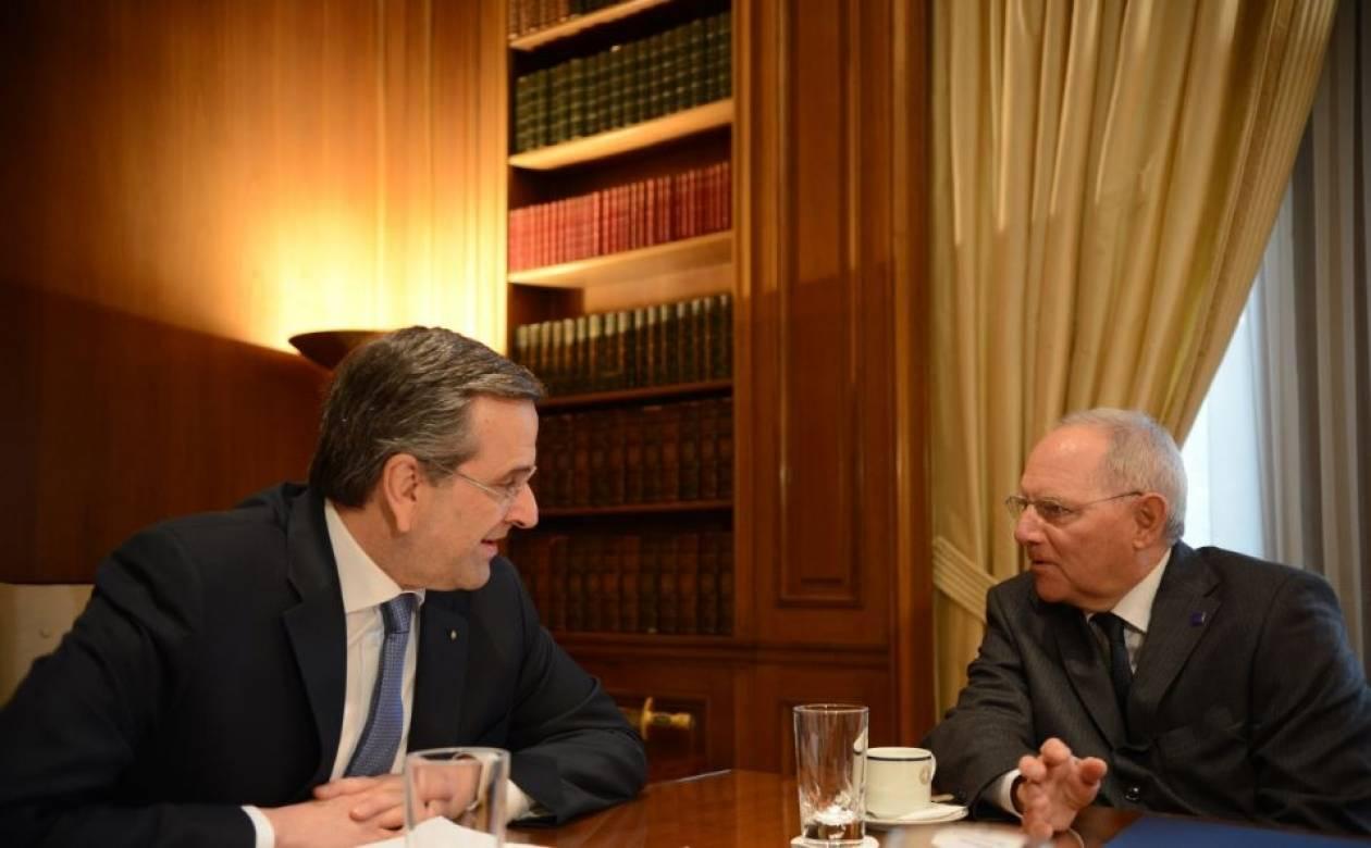 Ολοκληρώθηκε η συνάντηση του Αντ. Σαμαρά με τον Β. Σόιμπλε