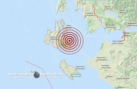 Σεισμός 3,4 Ρίχτερ στην Κεφαλονιά