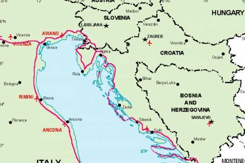 Σλοβενία – Κροατία: Αναθερμάνθηκε η διαμάχη για την Αδριατική