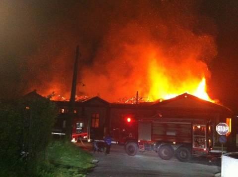 Κύμη Ευβοίας: Καταστροφή από πυρκαγιά - Κάηκε ολοσχερώς το σχολείο