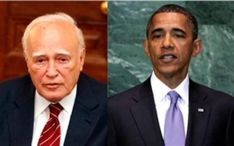 Τηλεγράφημα Ομπάμα στον Κάρολο Παπούλια