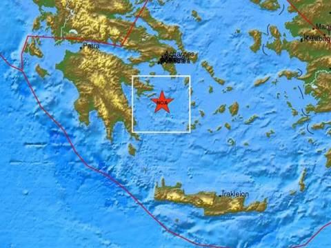 Σεισμός 5,4 Ρίχτερ στον Αργοσαρωνικό