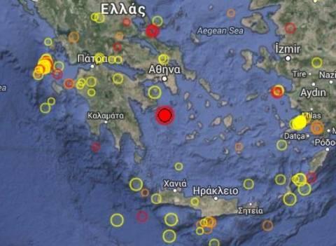 Αισθητός μέχρι την Κρήτη ο σεισμός
