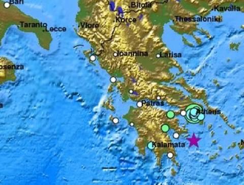 Αισθητός σε όλη την ανατολική και κεντρική Πελοπόννησο ο σεισμός