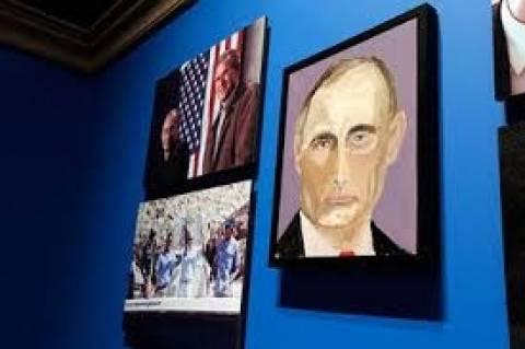 ΗΠΑ: Ο Μπους ζωγράφισε Πούτιν και Μέρκελ! (photos)