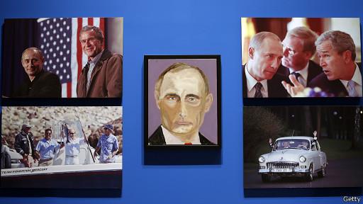 Портрет Путина кисти Джорджа Буша выставлен в Техасе