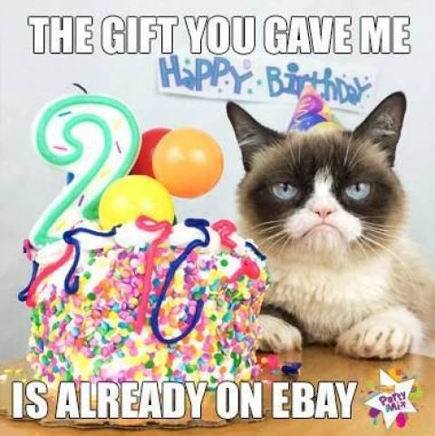 Η πιο θυμωμένη γάτα γιορτάζει αλλά... (εικόνες)