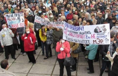 Демонстранты в Мариуполе требуют освобождения «народного мэра»