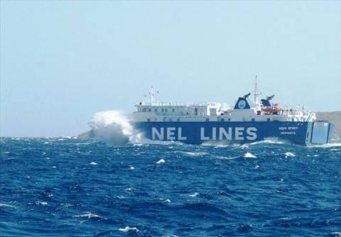 Ο καιρός εμπόδισε επιβατικό πλοίο να δέσει στη Σίκινο