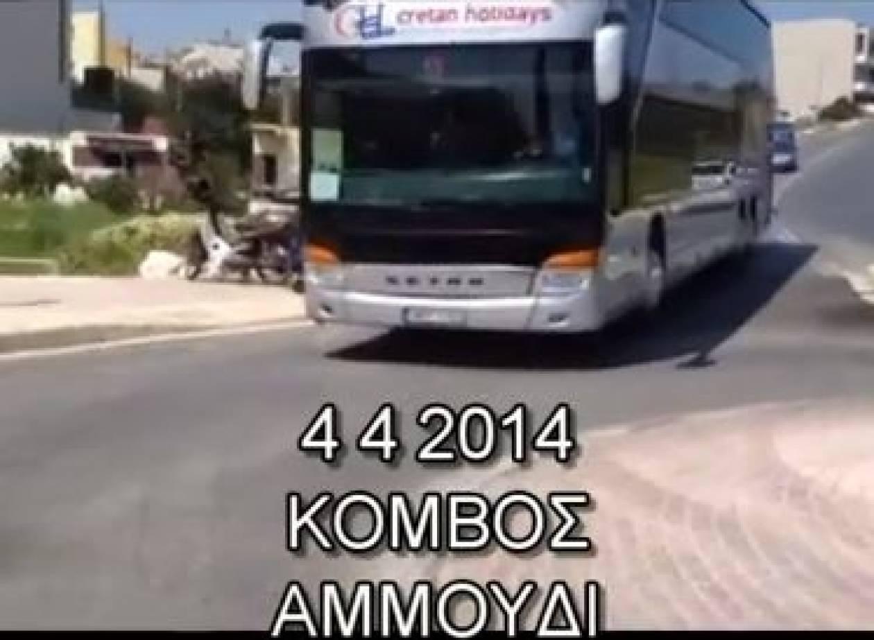 Κρήτη: Κατασκευάστηκε κόμβος αλλά δεν χωρούν τα λεωφορεία