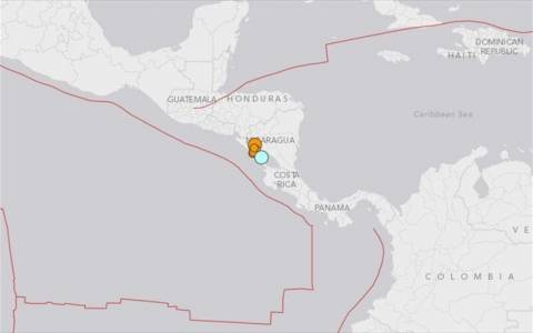 Ισχυρός σεισμός ταρακούνησε τη Νικαράγουα