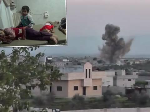 Βομβαρδισμοί με χημικά στη Συρία (vid)