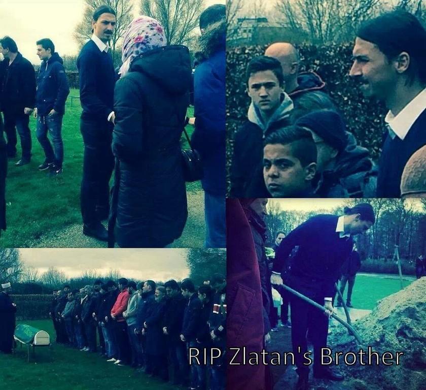 Οι δύσκολες ώρες του Ίμπρα, στη κηδεία του αδερφού του (pic)