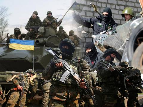 Οι Ουκρανοί πολεμούν ενάντια στους «φασίστες της χούντας του Κιέβου»