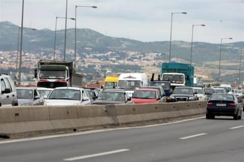Αποκαταστάθηκε η κυκλοφορία στην περιφερειακή οδό Θεσσαλονίκης