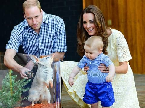 Ο πρίγκιπας Τζορτζ συνάντησε συνονόματο μαρσιποφόρο