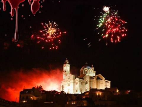 This year's Easter was again bloodied by fireworks and firecrackers