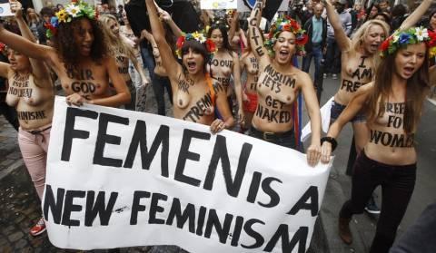 Γαλλία: Οι ακτιβίστριες της Femen διαδήλωσαν κατά του φασισμού