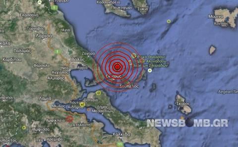 Σεισμός 3,0 Ρίχτερ στις Βόρειες Σποράδες