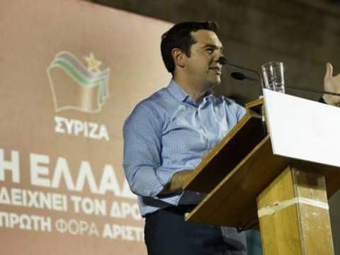 Παρουσιάζει το ευρωψηφοδέλτιο ο Αλέξης Τσίπρας