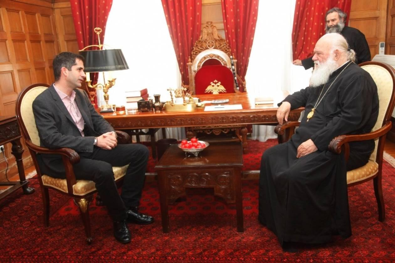 Εκλογές 2014: Συνάντηση Κ. Μπακογιάννη με τον Αρχιεπίσκοπο Ιερώνυμο