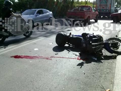 Κρήτη: Σοβαρό τροχαίο στα Χανιά–Στο νοσοκομείο ο μοτοσυκλετιστής