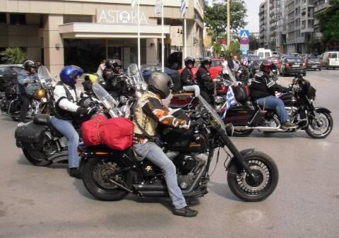 Θεσσαλονίκη: Απόβαση 43 Τούρκων με 29 Harley Davidson