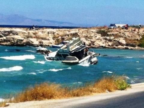Милос: посадили судно село на мель, чтобы не затонуло...