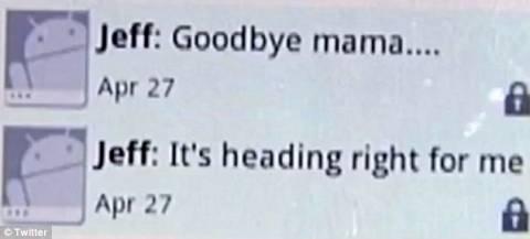 Συγκλονιστικό: Το μήνυμα που έστειλε στη μητέρα του λίγο πριν πεθάνει