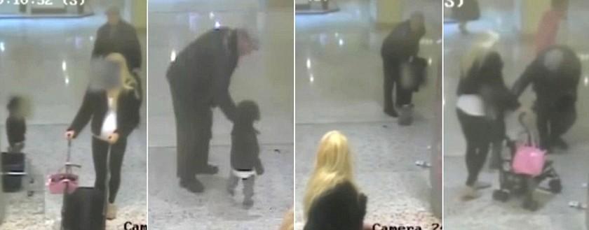 ΕΦΙΑΛΤΗΣ: Η στιγμή που άνδρας επιχειρεί να απαγάγει το παιδί της (pics)