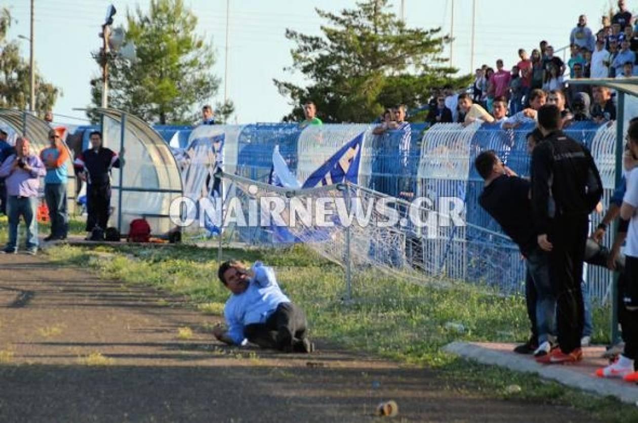 Ξύλο σε ποδοσφαιρικό αγώνα – Έριξαν μπουνιές και στον δήμαρχο