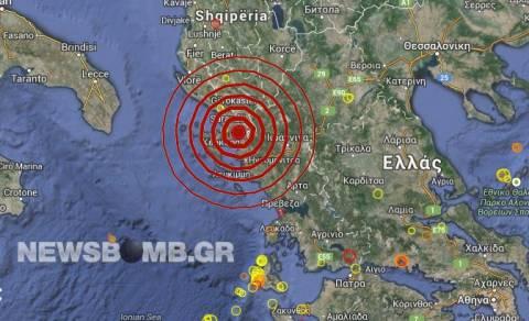 Σεισμός 5,0 Ρίχτερ στα ελληνοαλβανικά σύνορα