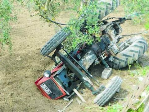 Χαλκιδική: Νεκρός αγρότης από ανατροπή τρακτέρ στον Άγ. Παντελεήμονα