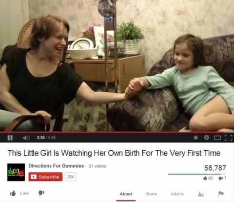 Ζήτησε συγνώμη από τη μητέρα της όταν είδε το βίντεο της γέννησής της! (βίντεο)