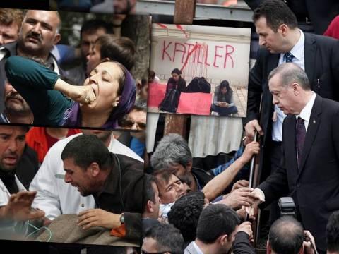Τουρκία: «Δολοφόνε παραιτήσου», φώναζε στον Ερντογάν το εξαγριωμένο πλήθος