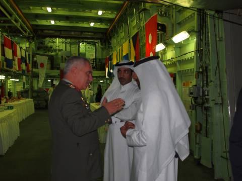 Eπίσκεψη του Αρχηγού του Εμιρικού Ναυτικού του Κατάρ