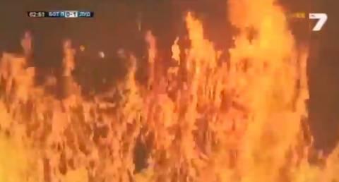 Πυρκαγιά στο γήπεδο στο βουλγαρικό τελικό Κυπέλλου (vid)