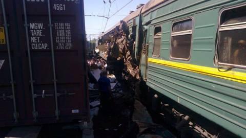 Σύγκρουση τρένων στη Ρωσία - Τουλάχιστον τέσσερις νεκροί (photos)