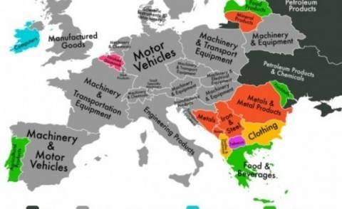 Ο παγκόσμιος χάρτης των εξαγωγών - Τι εξάγει η Ελλάδα;