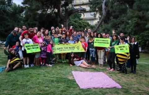 Θεσσαλονίκη: Γιορτή… μέλισσας από τη Greenpeace