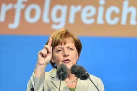 Ευρωεκλογές 2014 - Μέρκελ: Έκλεισε την εκστρατεία της με αναφορές στη μεταπολεμική Ευρώπη