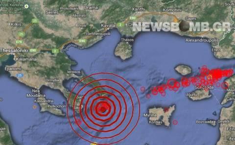 Σεισμός 4,5 Ρίχτερ νότια του Αγίου Όρους