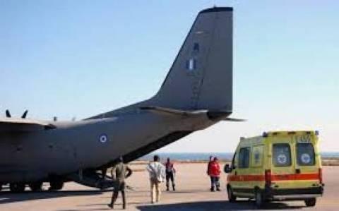 Αεροδιακομιδή νεογνού από τη Μυτιλήνη στην Ελευσίνα