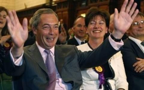 Αποτελέσματα εκλογών: Στόχο τις βουλευτικές εκλογές του 2015 έθεσε ο Νάιτζελ Φάρατζ