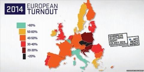 Ευρωεκλογές 2014: Σε υψηλά επίπεδα η αποχή στην Ευρώπη