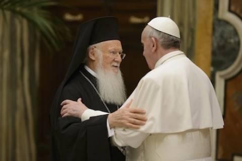 Νέα συνάντηση Οικουμενικού Πατριάρχη- Πάπα Φραγκίσκου