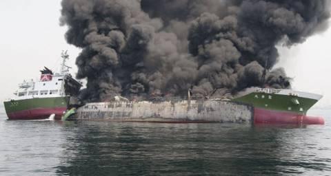 Ισχυρή έκρηξη σε δεξαμενόπλοιο στην Ιαπωνία