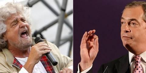 Κοινό μέτωπο Γκρίλο - Φάρατζ στη νέα ευρωβουλή