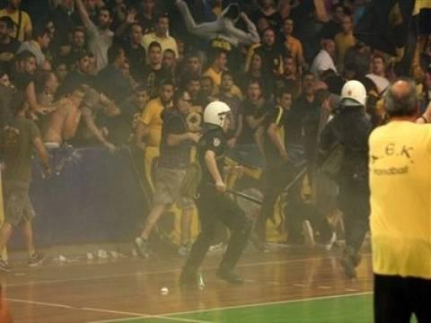 Δέκα συλλήψεις πριν τον αγώνα χαντμπολ ΑΕΚ - Διομήδης Άργους