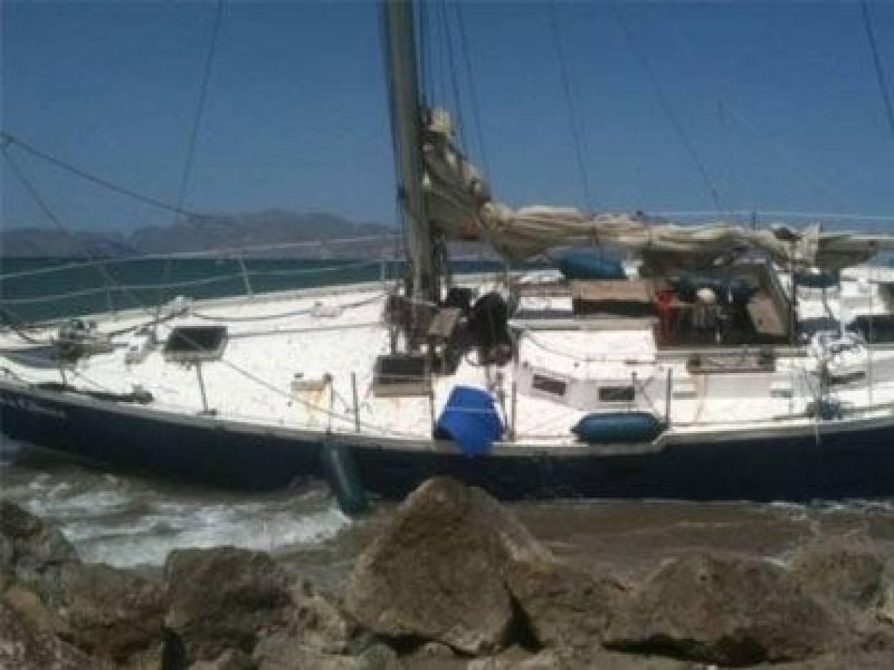 Προσάραξη ιστιοφόρου σκάφους σε ύφαλο στη Σκιάθο